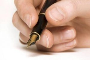 schrijven met een vulpen
